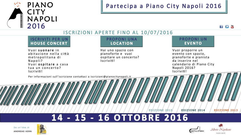 Iscrizioni Piano City Napoli 2016